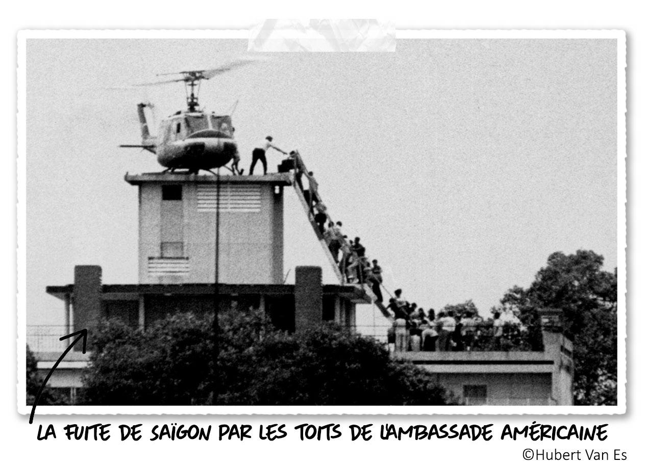 La fuite depuis l'ambassade américaine de Saïgon le 30 Avril 1975