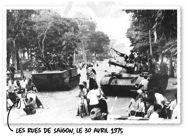 Dans les rues de Saïgon le 30 Avril 1975