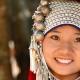 La coiffe de l'ethnie Akha au Laos