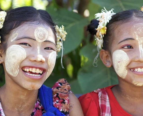 Le thanaka en Birmanie