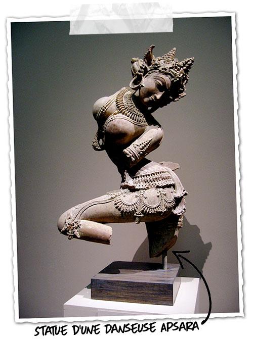 La statue d'Apsara