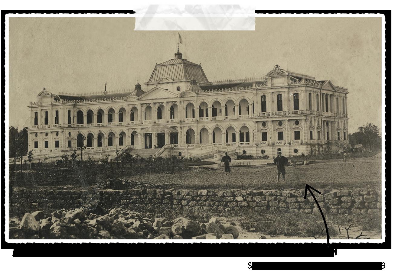 Ancienne photo du palais de la réunification