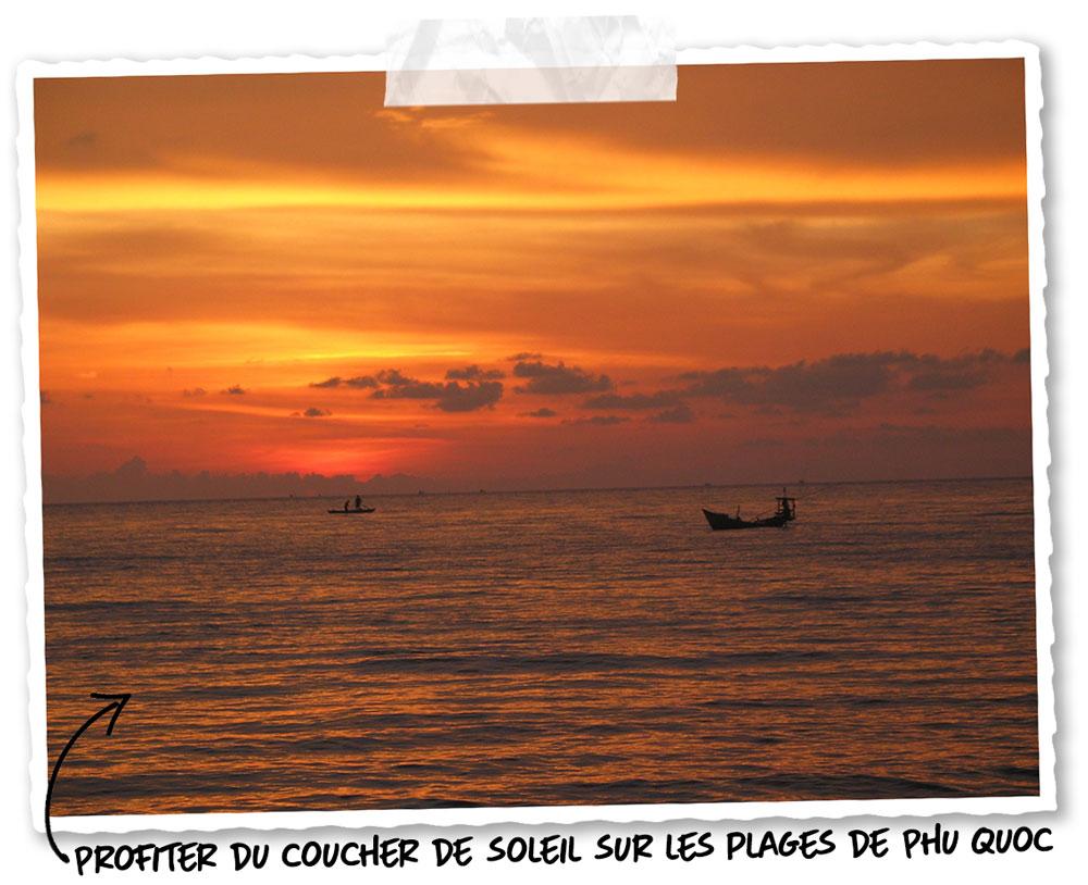 Un couche de soleil à Phu Quoc
