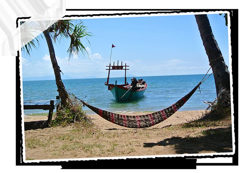 Se reposer sur la plage de l'île du lapin