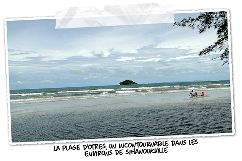 La plage d'Otres dans les environs de Sihanoukville