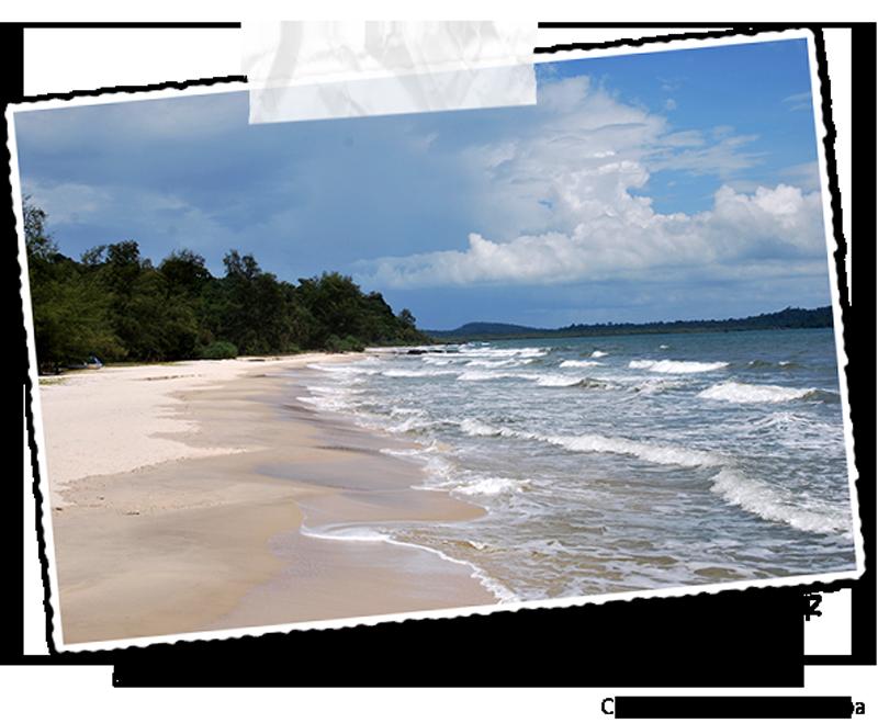 La plage du parc national de Ream au Cambodge