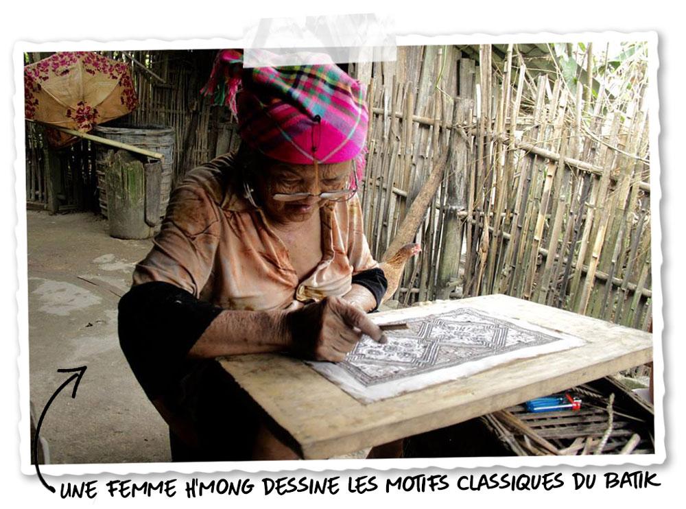Le batik chez les Hmong
