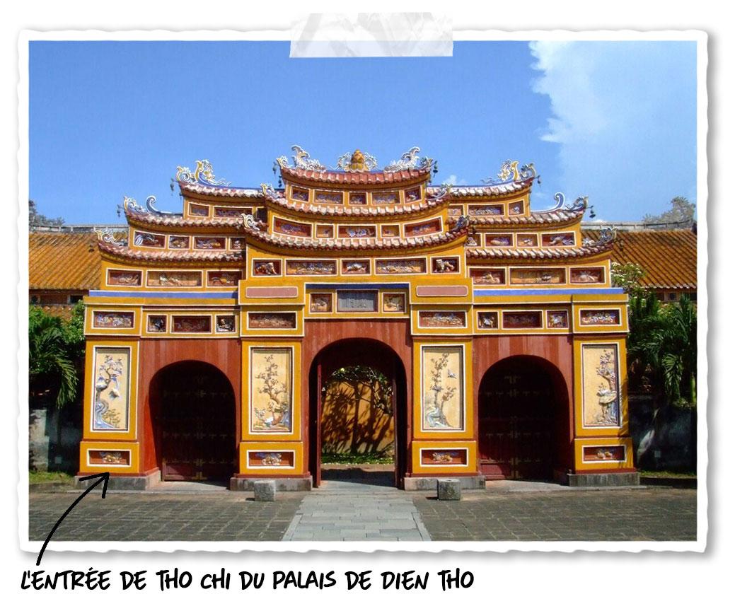L'entrée de Tho Chi du palais de Dien Tho dans la cité impériale de Hué