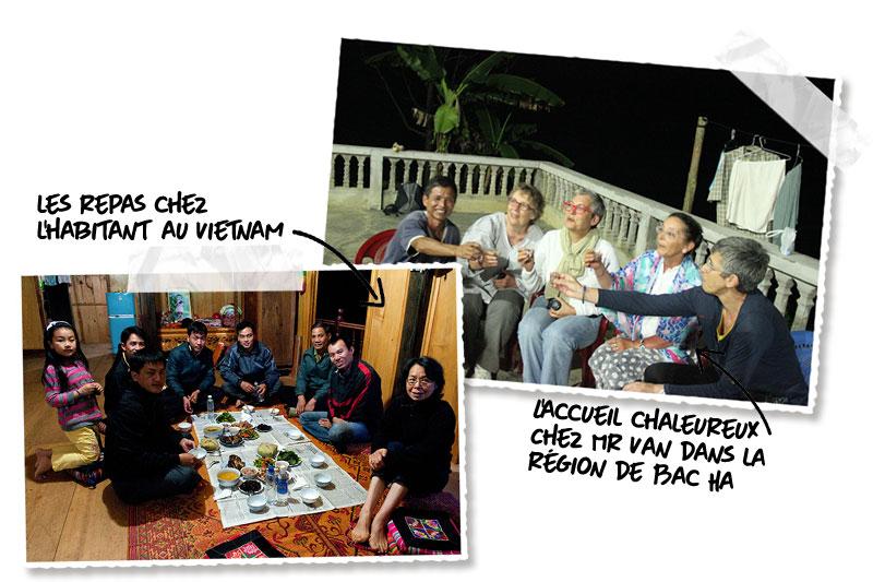 Activités nuit chez l'habitant au Vietnam