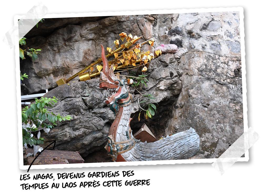 Les nagas gardent les temples au Laos