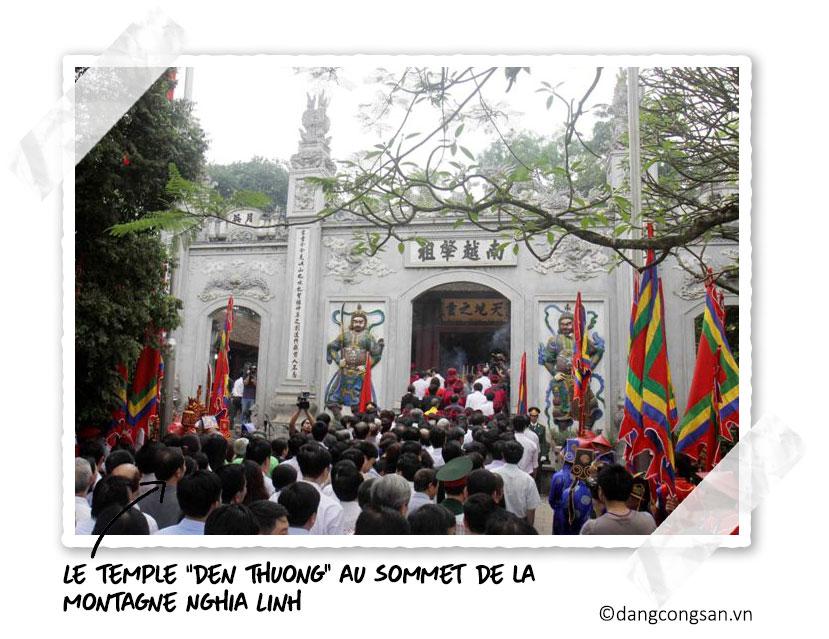 Le temple Den Thuong pour la fête des Rois Hung