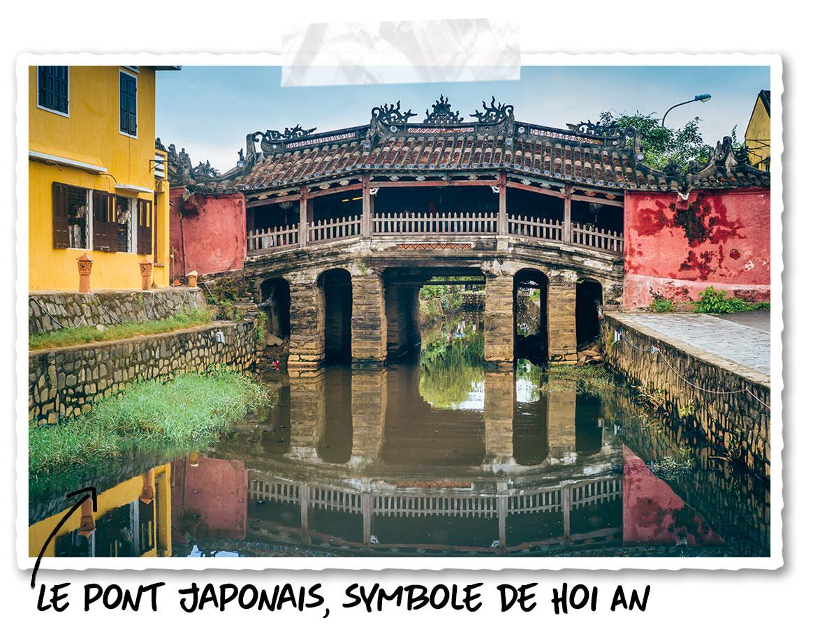 Le pont japonais incontournable lors d'une visite de Hoi An